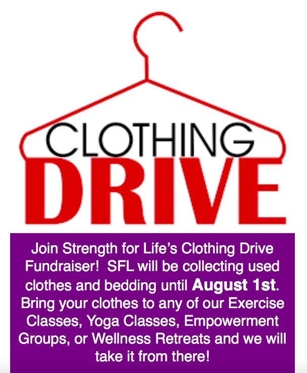 "CLOTHING DRIVE FUNDRAISER – LI2DAY ""TEAM STRENGTH FOR LIFE"""