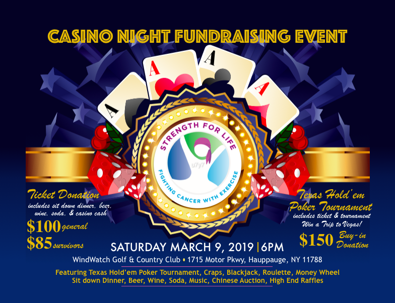 SURVIVORS RECOGNITION DINNER & CASINO NIGHT!